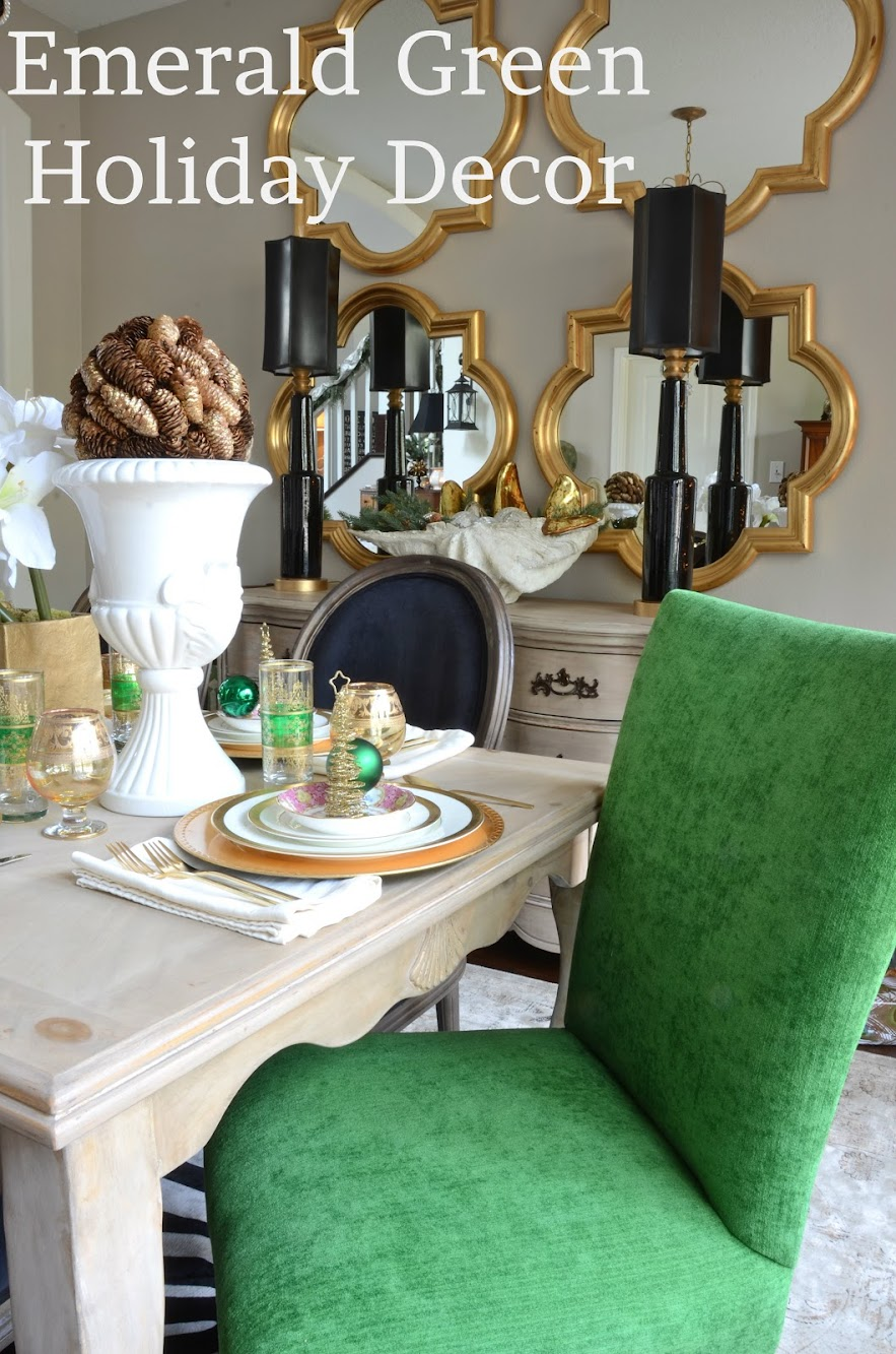 Emerald Green in the Dining Room