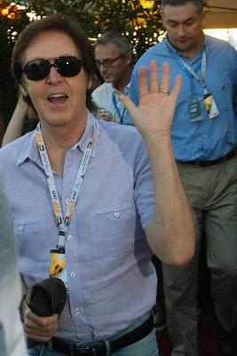 Пол Маккартни на Гран-при Абу-Даби 2011