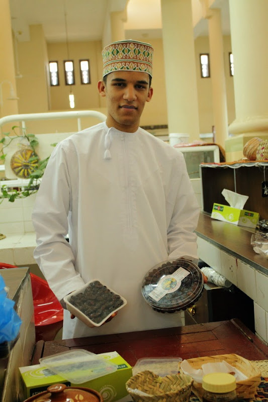 Man from Nizwa selling Khallas and Fard dates at Nizwa Date Souk