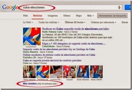 google elecciones en cuba