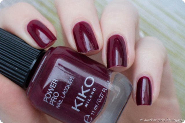 LFB Bprdeaux Oxblood KIKO Power Pro 47 Sangria Swatch-5