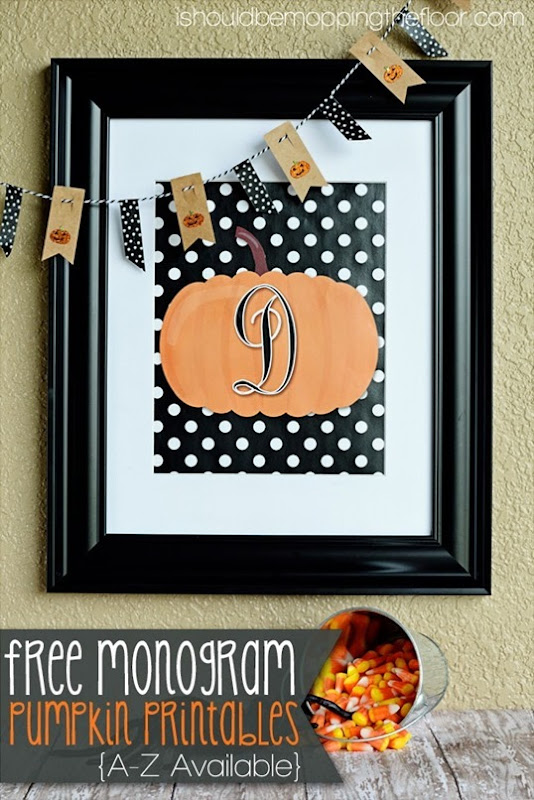 monogram pumpkin printables
