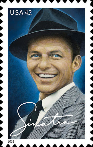 United States Postal Service honors Frank Sinatra with his own commemorative postage stamp.
