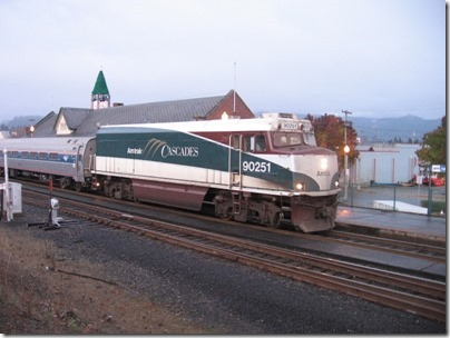 IMG_4611 Amtrak Cascades NPCU #90251 in Kelso, Washington on on November 29, 2008