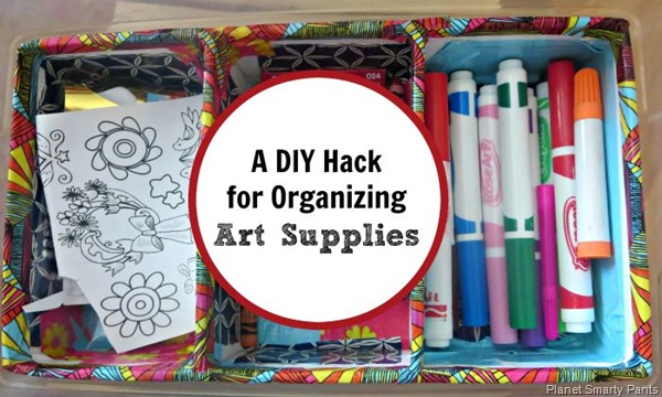 A DIY hack to organize art supplies