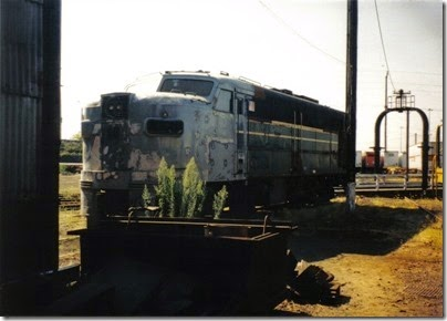 01 Spokane, Portland & Seattle Alco FA-1 #866 at the Brooklyn Roundhouse in Portland, Oregon on August 25, 2002
