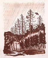 Dej BAO. 069 . Un Chemin dans la Pierre . 1978 .Lithographie . 35 x 35 cm