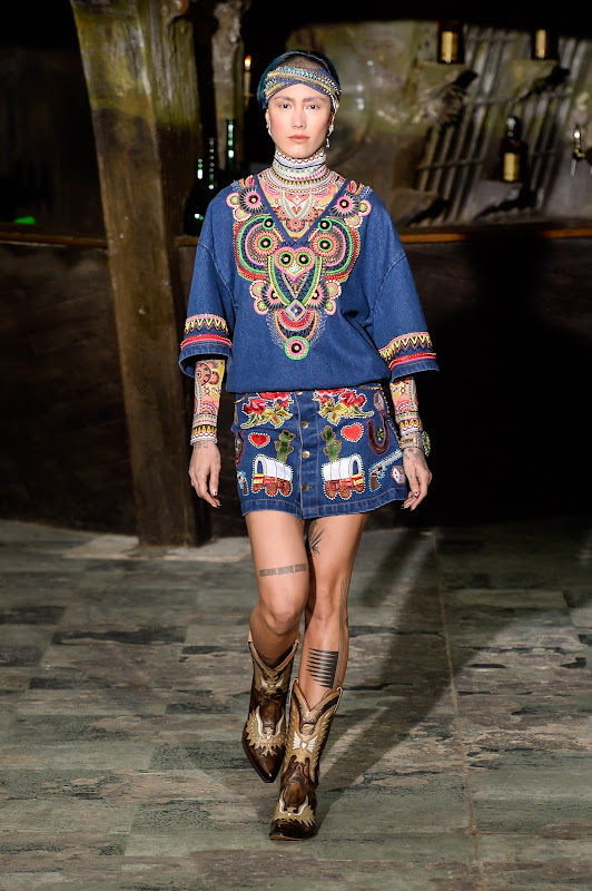 Manish Arora, Female model catwalking during the Paris womenswear  fashion shows, winter 2016 - 2017, Women ready to wear, France