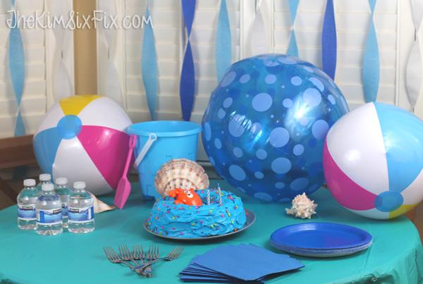 Beach party table