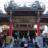 chinese temple in Yokohama, Tokyo, Japan