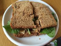 Marmite cheese and spinach sandwich rationing