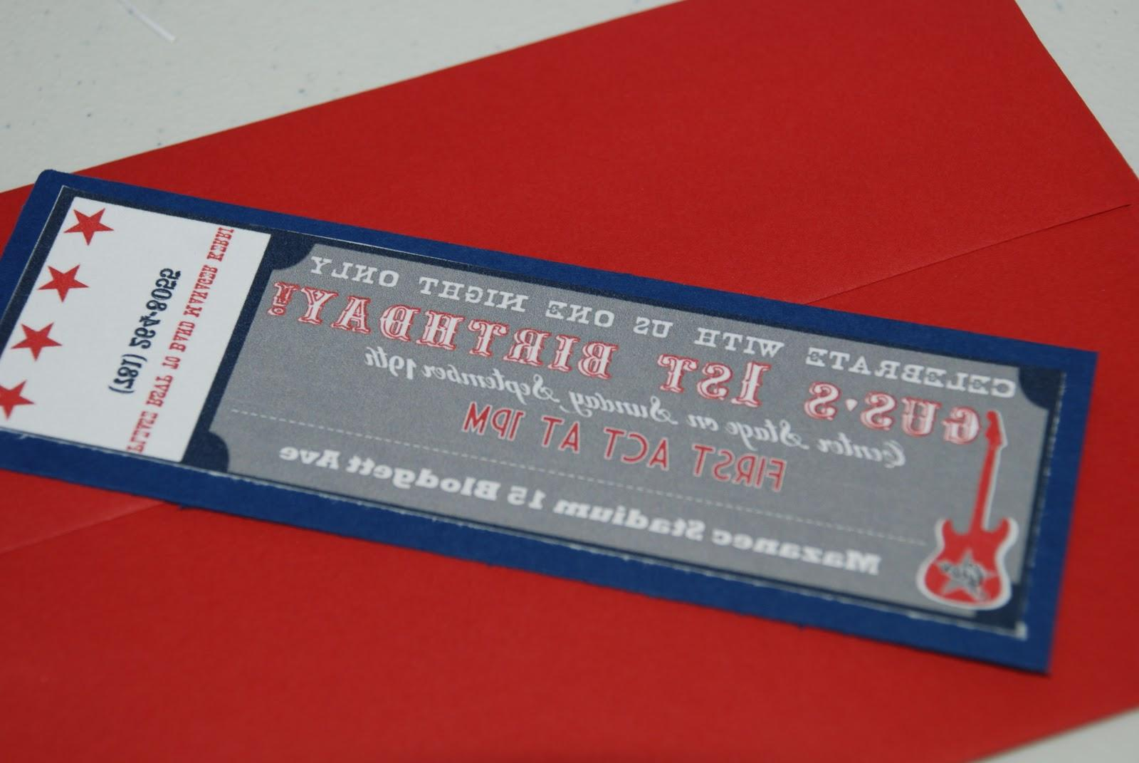 Invitation resembled a concert