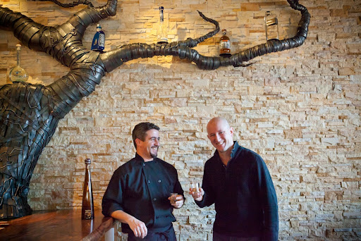 Chef Chris Peterson (left) and GM Jason Harris at Milagro Cantina [photo courtesy Kathryn Barnard]