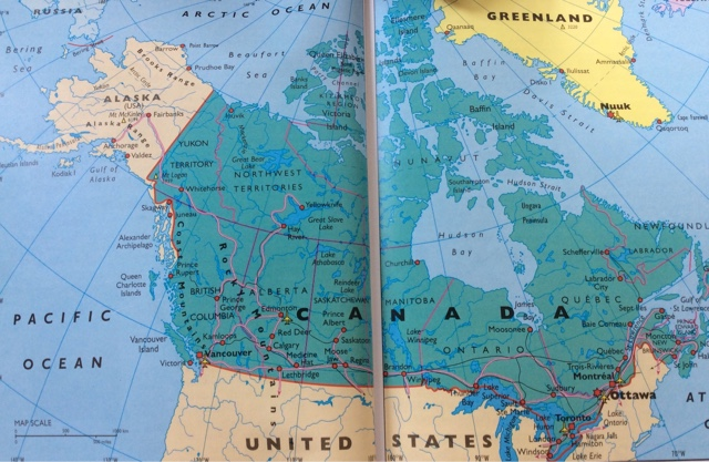 Travels July - Us west coast vancouver island map