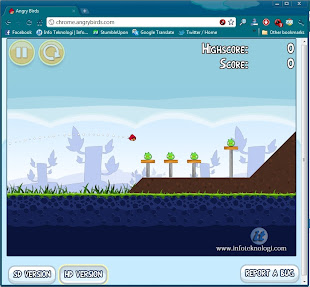 Screenshot Angry Birds di Chrome