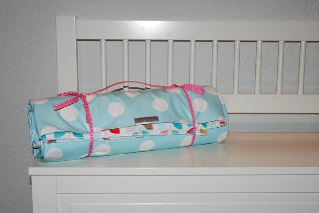 Lisa's picnic blanket rolled up2