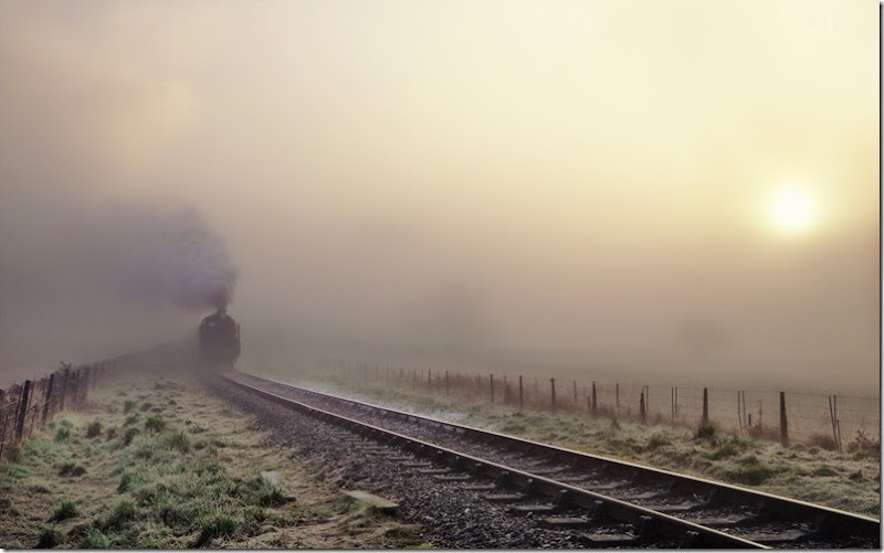 Steam-train-in-the-fog