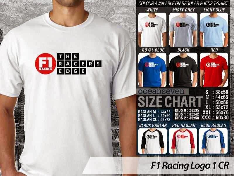 Kaos Magz F1 Racing Logo 1 Majalah & Media distro ocean seven