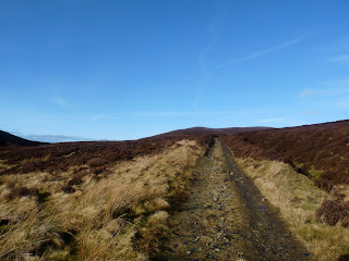 A path to the middle of nowhere ... or at least it looks like it. We are in fact on our way to Skiddaw House.