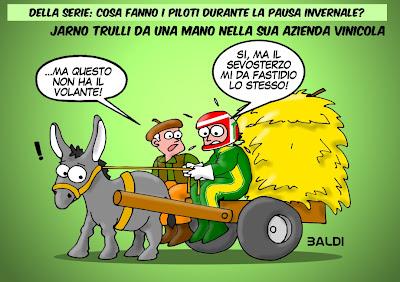 Ярно Трулли на тележке с осликом - комикс Baldi