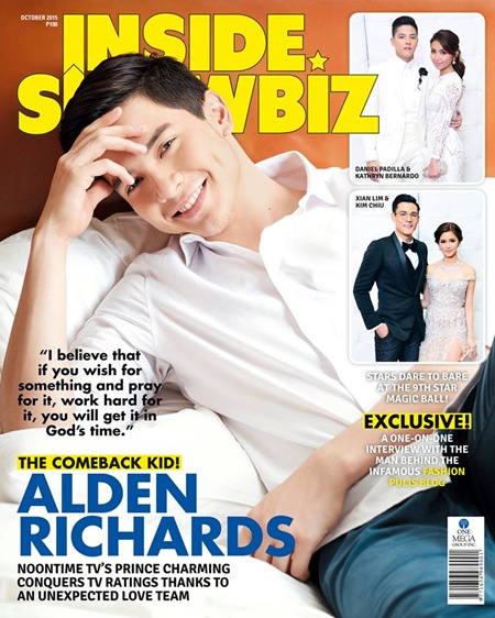 Alden Richards - Inside Showbiz Oct. 2015