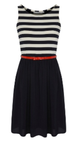 George Asda Stripe Skirted Dress #GeorgeousDresses