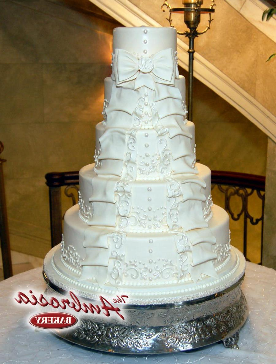 This five tier wedding cake is