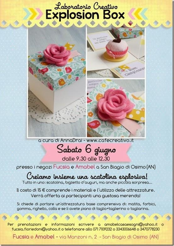 cafe creativo - Fucsia e Amabel  - corso explosion box bis