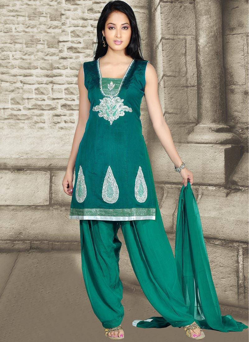 Glorious Teal Green Churidar