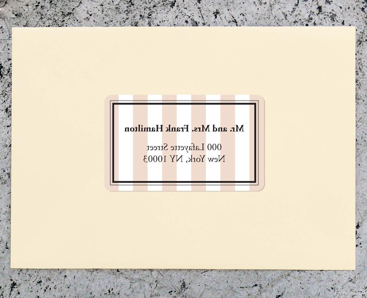 Striped Forest Wedding Return Address Label