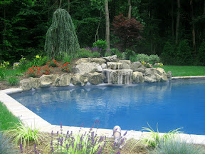 18' x 36' Elbow shaped Gunite Pool - Dix Hills, Long Island NY