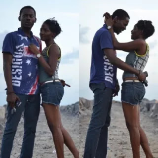 Adekunle Gold and simi in sizzling hot romance