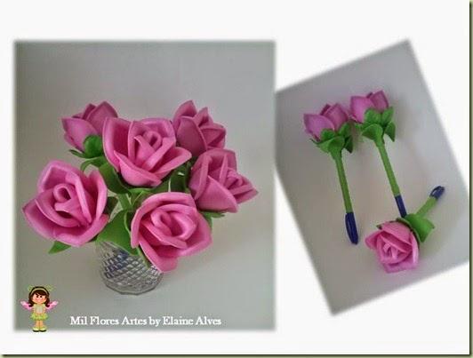 Caneta Rosa Rosa