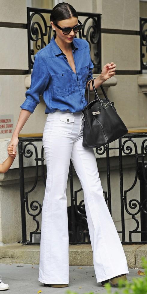 mac quan jeans nu trang ong loe dep nhu Miranda Kerr