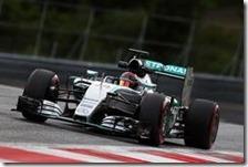 Pascal Wehrlein con la Mercedes nei test in Austria