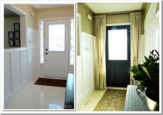 door before after with curtains