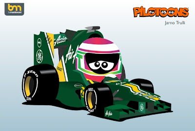 pilotoons 2012 Caterham CT01 и Ярно Трулли
