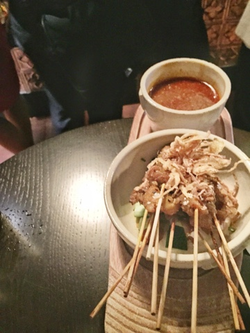 Satay Chicken skewers with peanut sauce Singapore