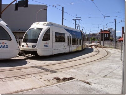 IMG_6064 TriMet MAX Type 4 Siemens S70 LRV #408 at Union Station in Portland, Oregon on May 9, 2009