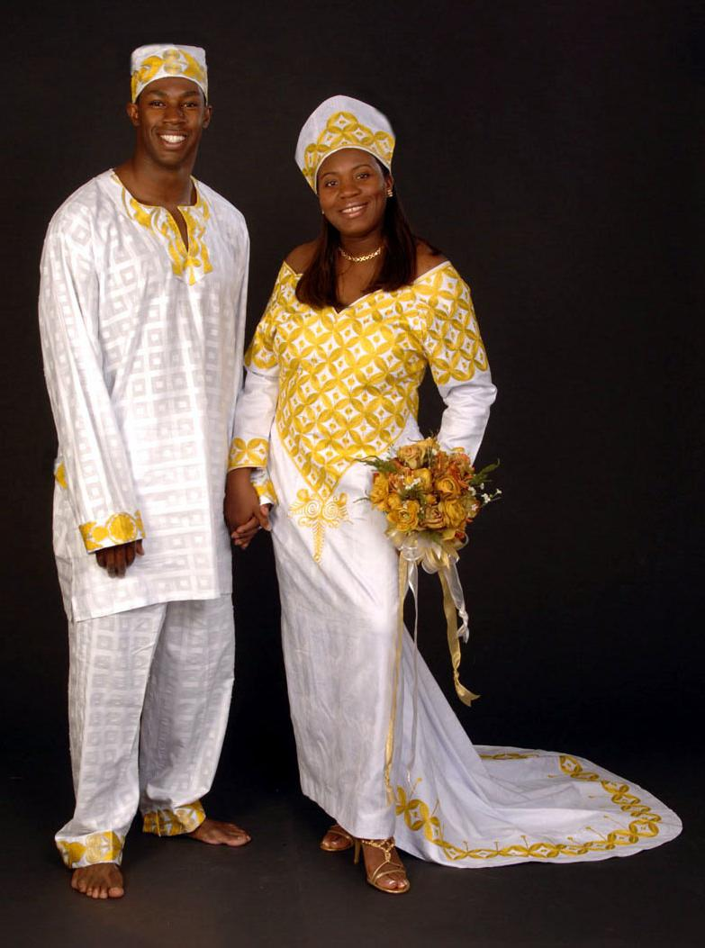 African wedding dresses.