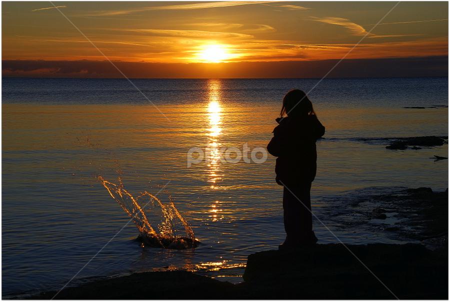 zalazak by Josip Kopčić - Landscapes Sunsets & Sunrises ( sunsets, , silhouette, golden hour, sunset, sunrise )