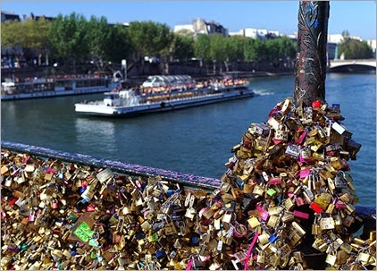 France Paris Love Locks