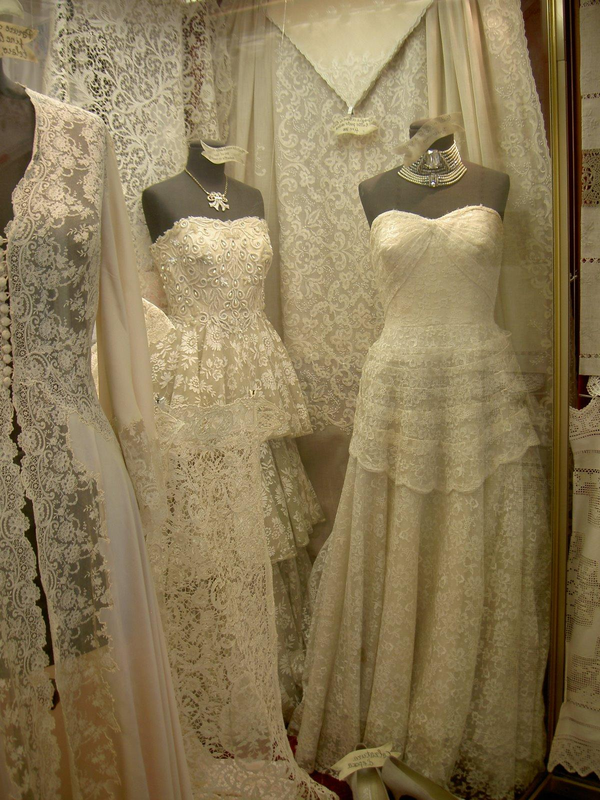 Lace wedding dresses in Murano