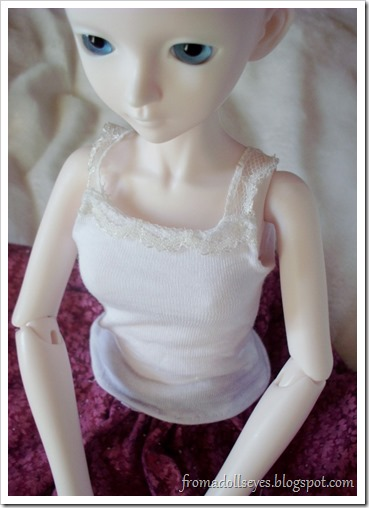 lace trimmed doll tank top