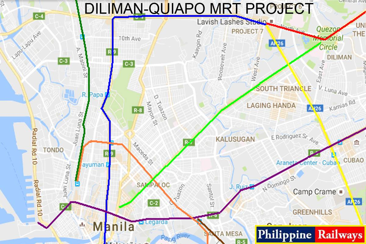 Image of Diliman - Quiapo MRT project under Duterte administration