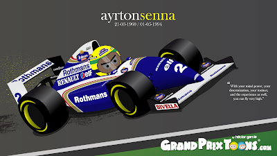 Айртон Сенна Williams FW16 Grand Prix Toons