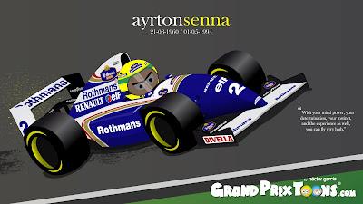 Айртон Сенна Williams FW16 Grand Prix Toons