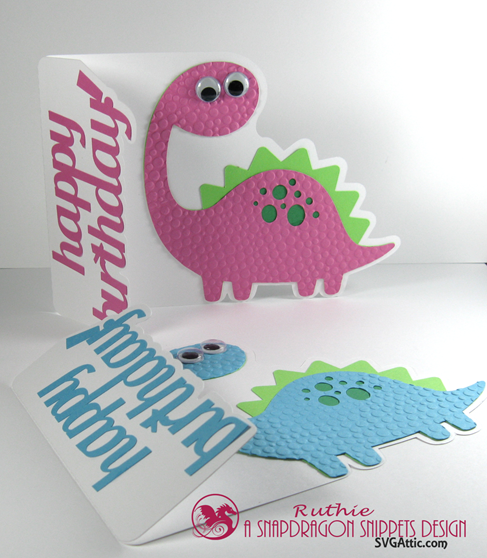 Bronto dinosaur a7 card - SnapDragon Snippets - Ruthie Lopez - Tarjeta - Card. 3