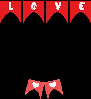bandeirinhas love