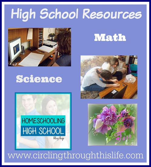 Homeschooling High School Blog Hop Math and Science Resources